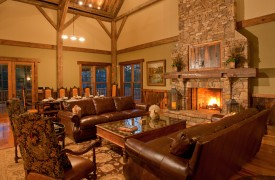 Cadence Ridge | Cabin Rentals of Georgia | Great Room & Dining Room