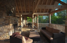 Cadence Ridge | Cabin Rentals of Georgia | Outdoor Living On Main Deck