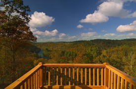 Riverview Lodge | Cabin Rentals of Georgia | View From Private Balcony