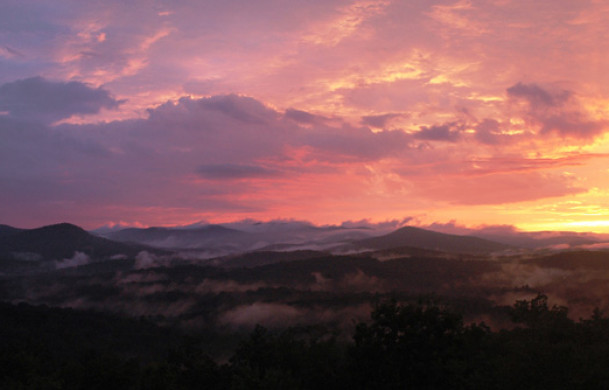 Skydance | Cabin Rentals of Georgia | Gorgeous Sunset
