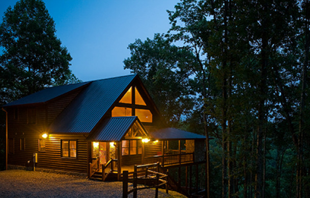 A Rivers Bend | Blue Ridge Cabin Rentals | Cabin Rentals Of Georgia | Mountaintop Exterior