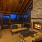 ComfortableCozinessinaScreened-inPorchw/Wood-BurningFireplaceattheEntrance